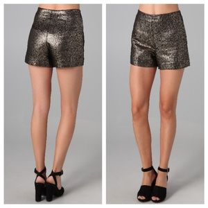 Diane von Furstenberg Clean Simca Gold Shorts